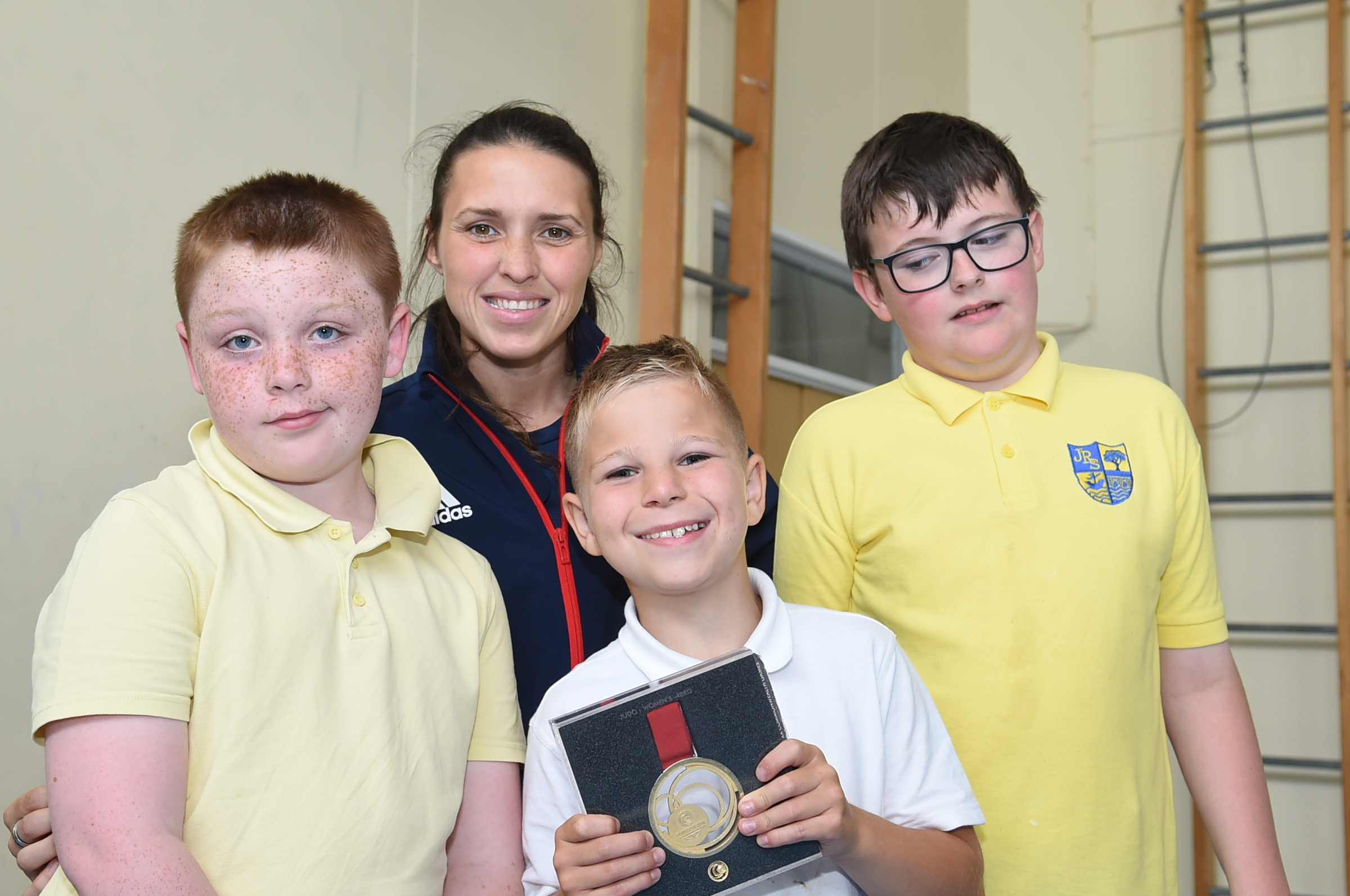 Olympic athlete visits James Reid School