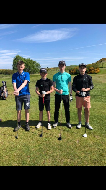 Foursome take on charity golf day for Macmillan