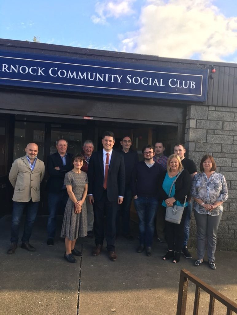 Labour MP Ged Killen visited Garnock Valley