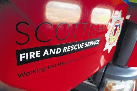 Firefighters rescue man after he fell at the glen in Dalry