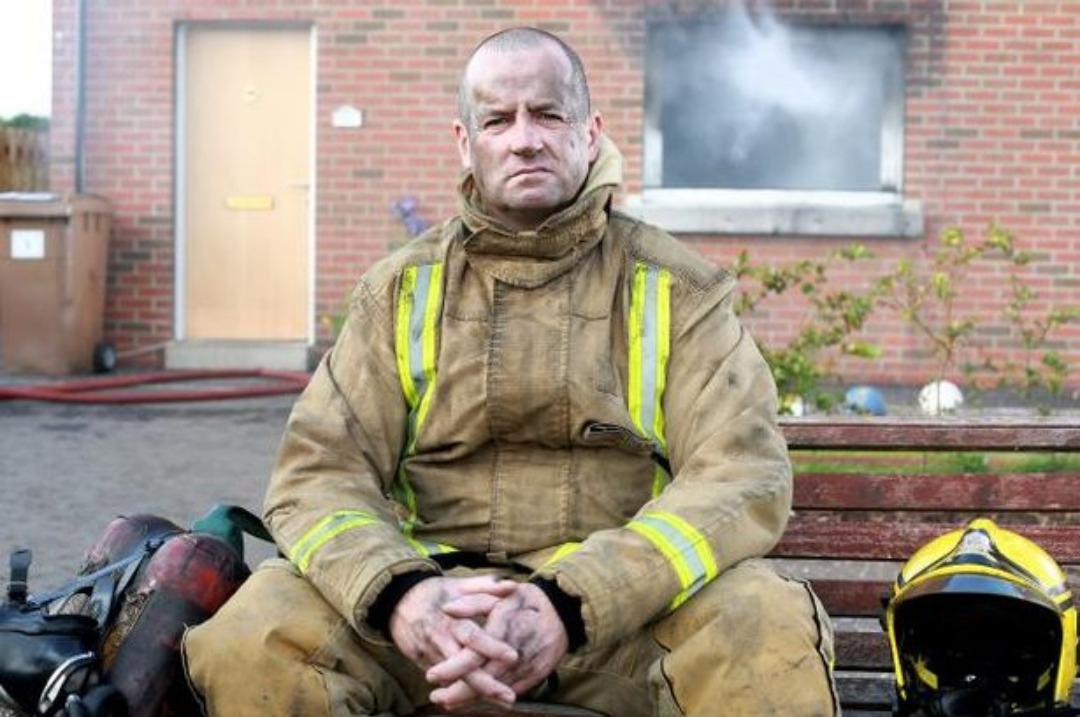 Cllr Scott Davidson, during his day job in the Scottish Fire and Rescue Service