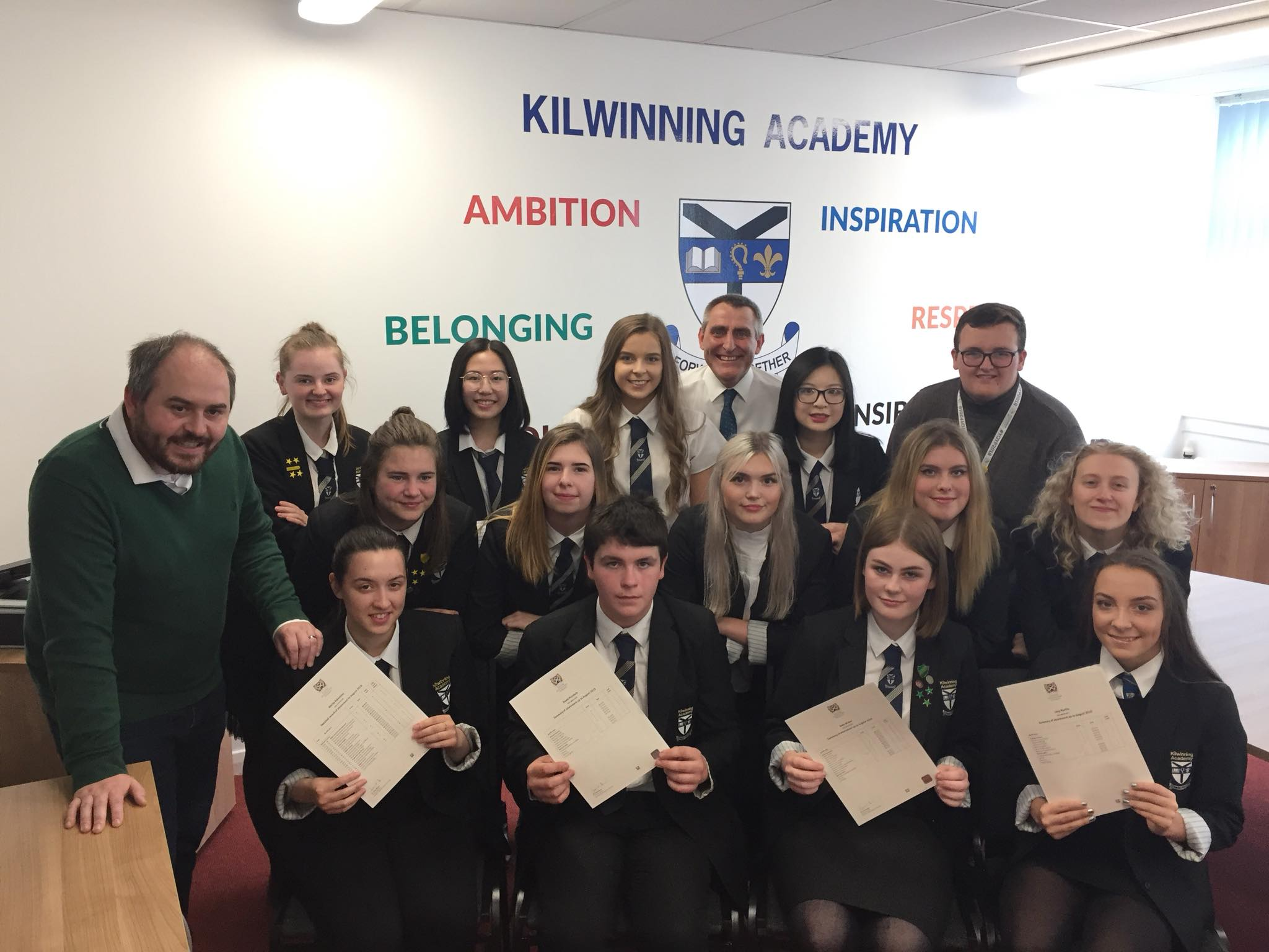 North Ayrshire schoolkids celebrate getting exam results
