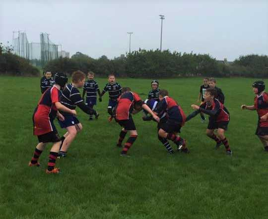 RUGBY ACTION: The young Ardrossan teams are pictured in action on Sunday.