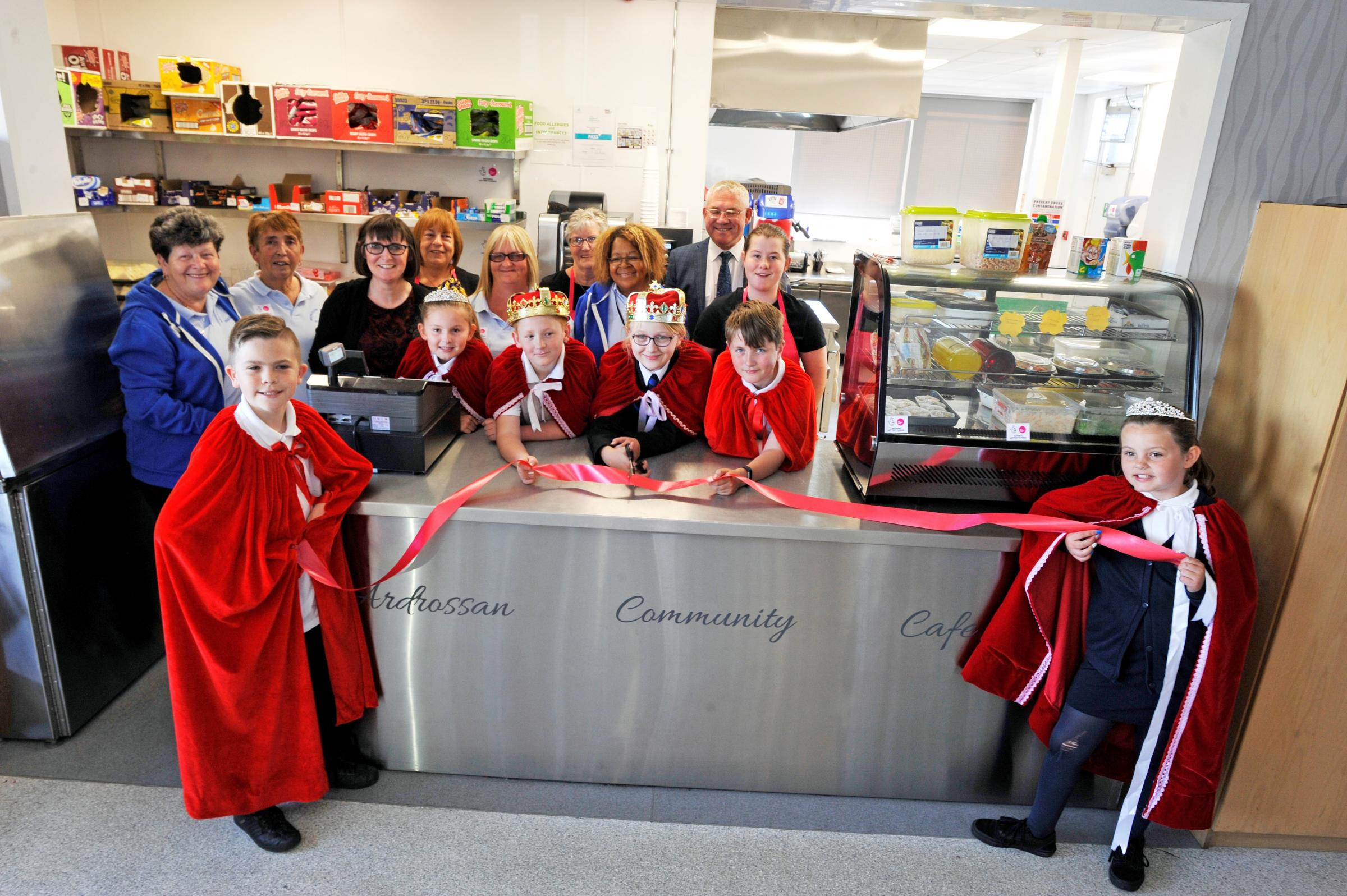 New lottery funded kitchen at Whitlees community centre, Ardrossan..