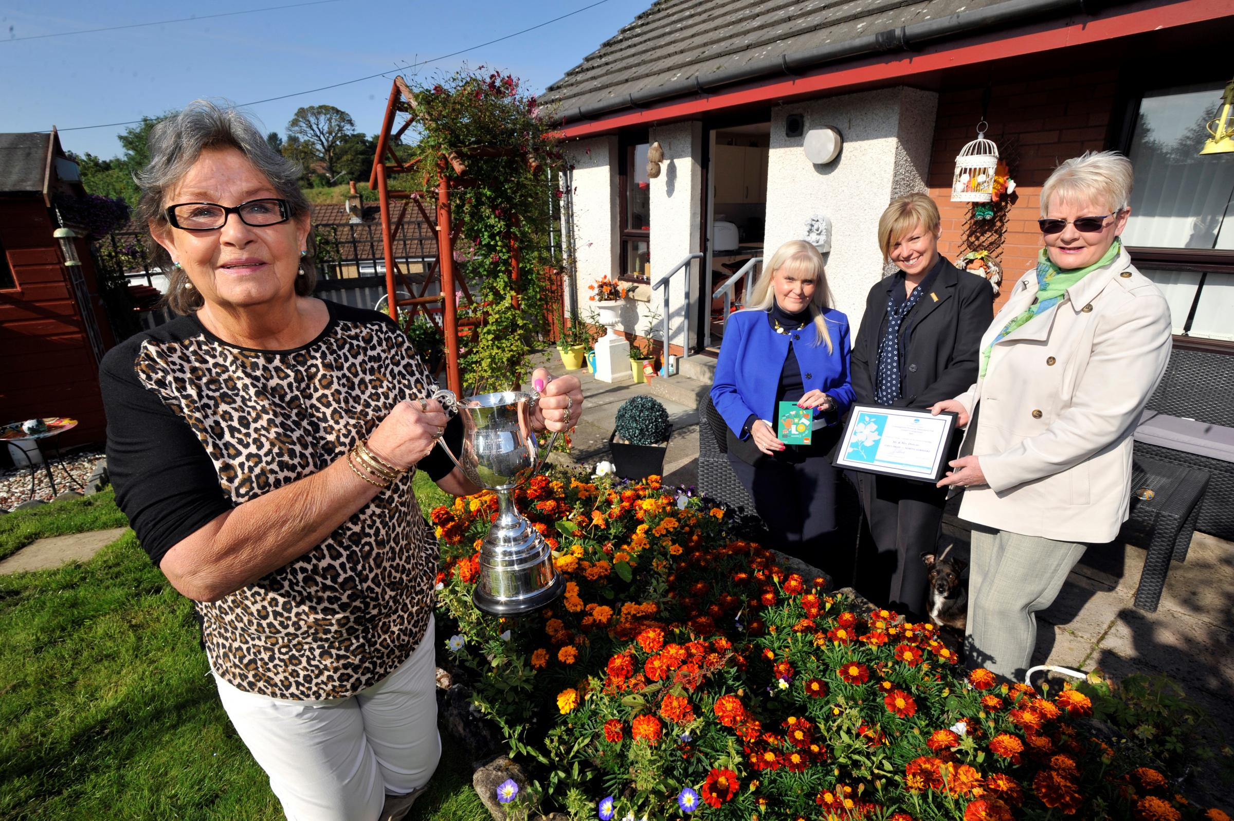 Dalry's Andrea takes the trophy in the CHA garden competition