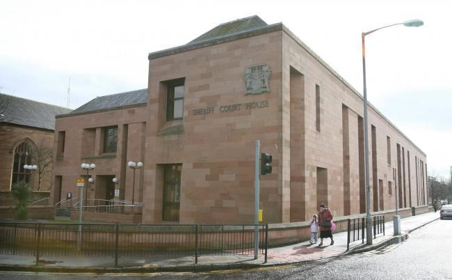 Kilwinning man poured wine over ex's head and bit her