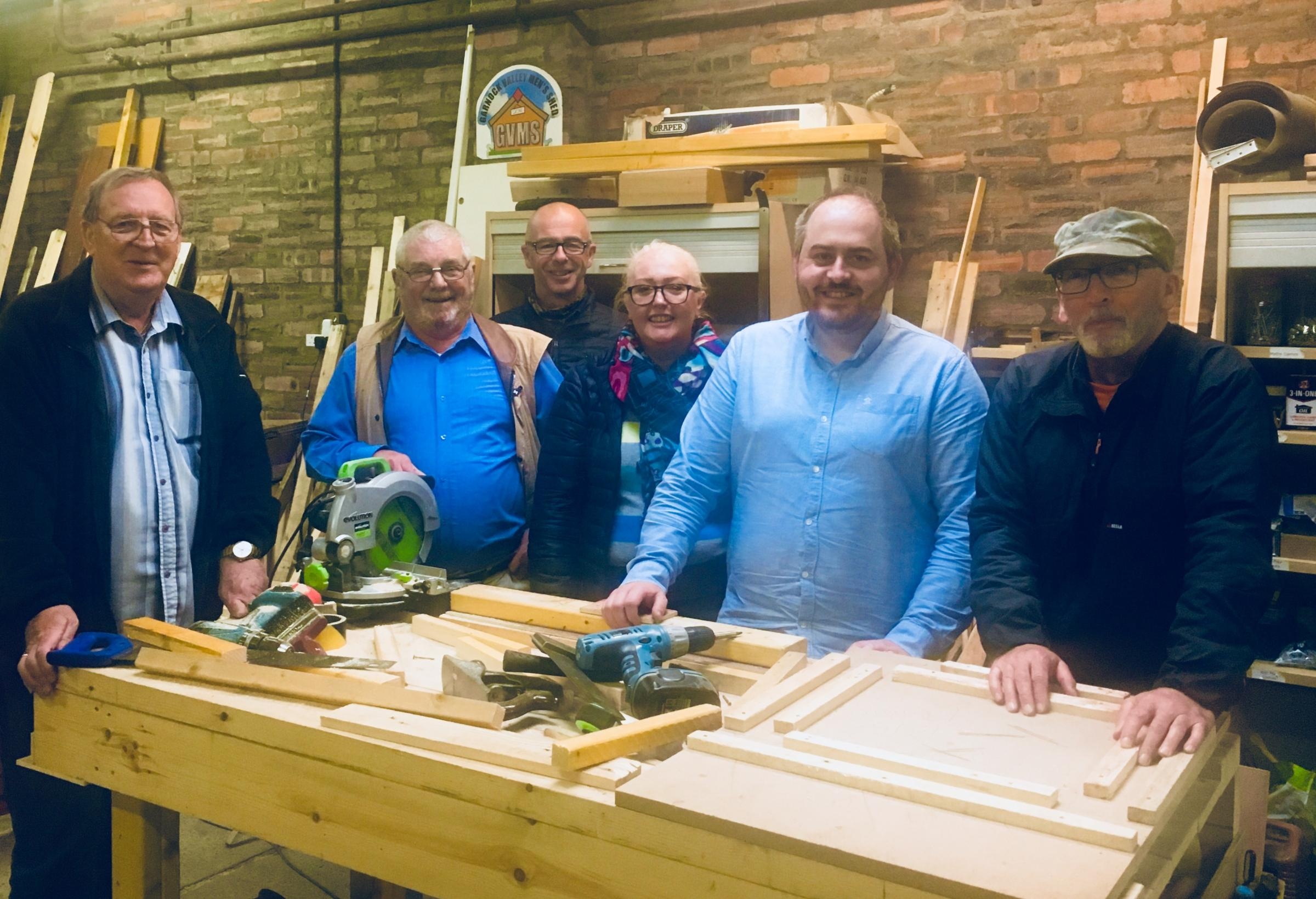Funding boost for the Men's Shed in the Garnock Valley