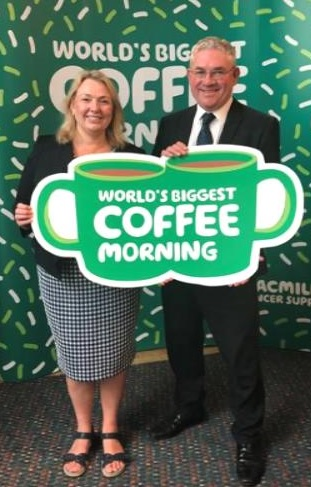 MSP Kenneth Gibson at World's Biggest Coffee Morning