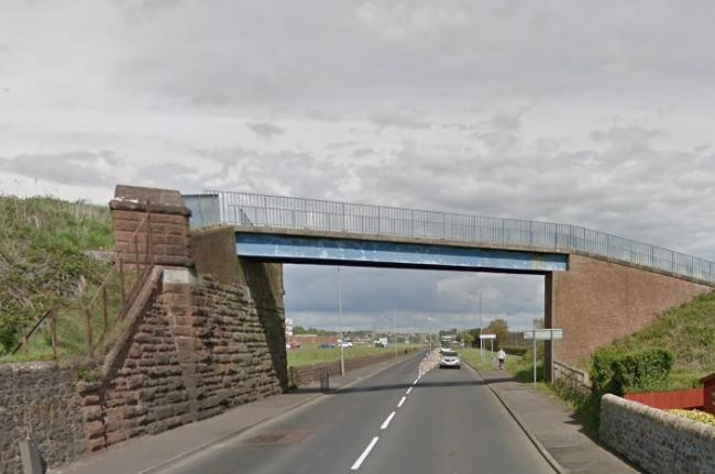 saltcoats overpass youths dropped stones on buses ardrossan and