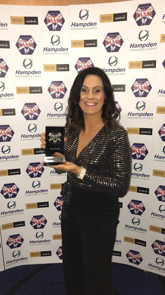 TOP HONOUR: Julie Fleeting joins the Scottish Football Hall of Fame on Sunday night.