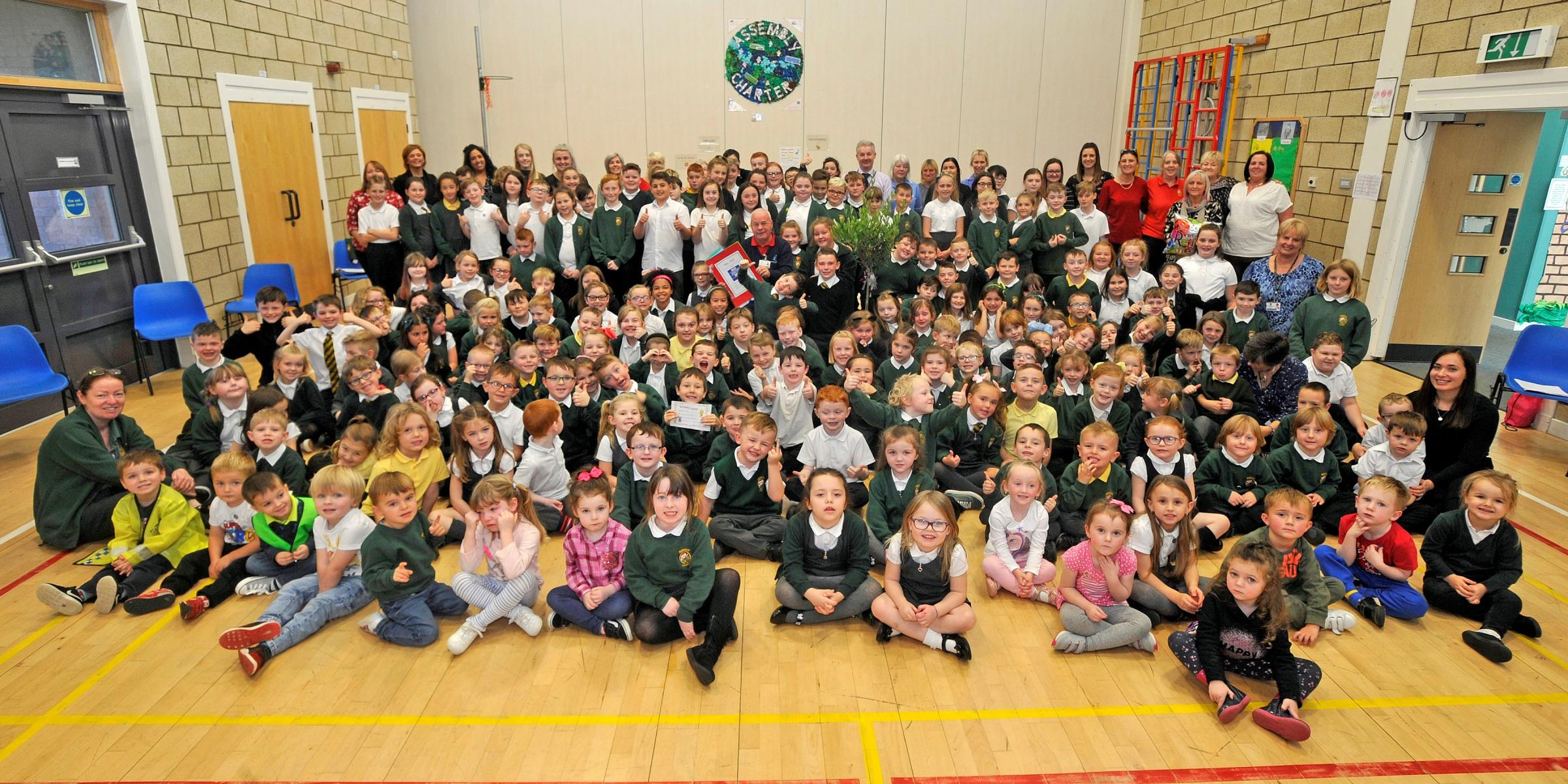 Janitor Robert Hill retires from Mayfield primary school, Saltcoats..