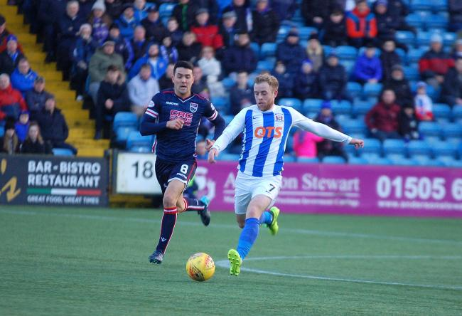 ON TARGET: Rory McKenzie netted for Killie.