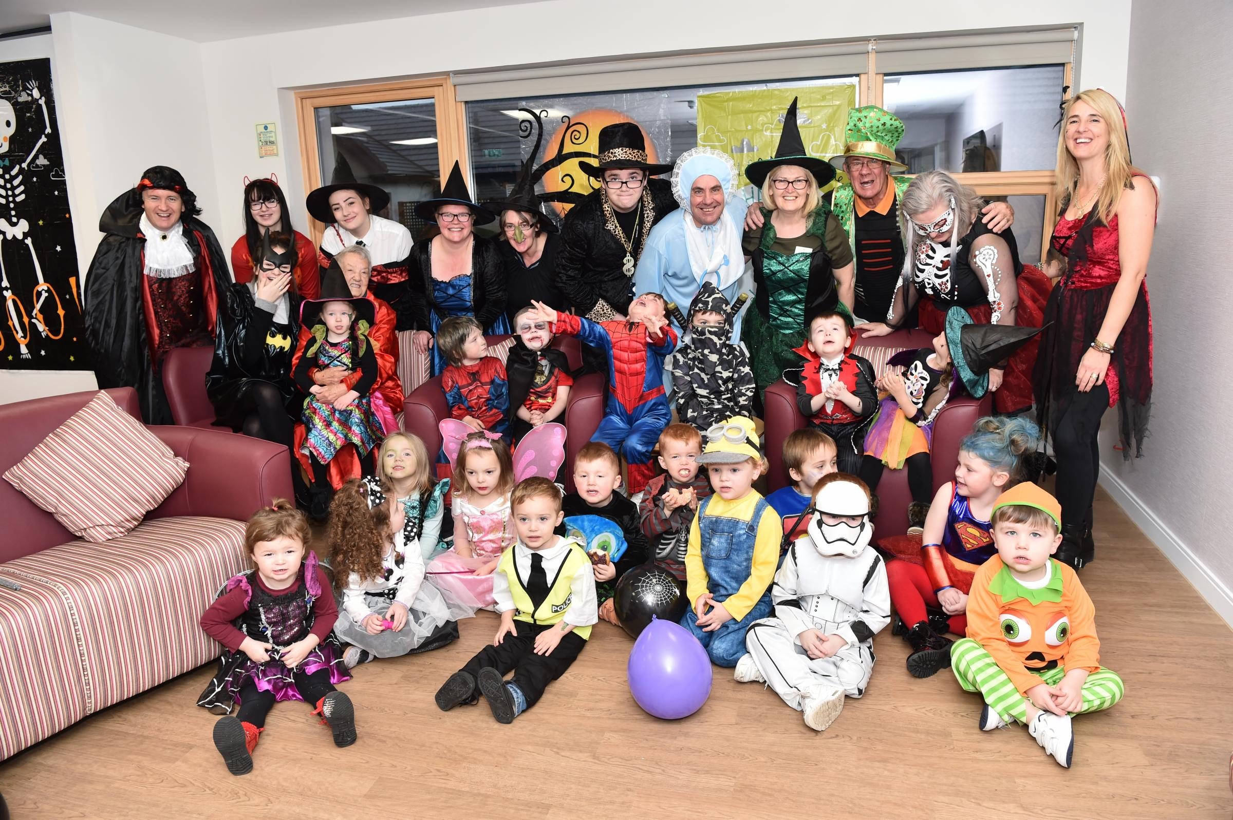 St Bridget's youngsters celebrate Hallowe'en in local care home