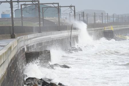 Trains off as Storm Erik batters the Ayrshire Coast