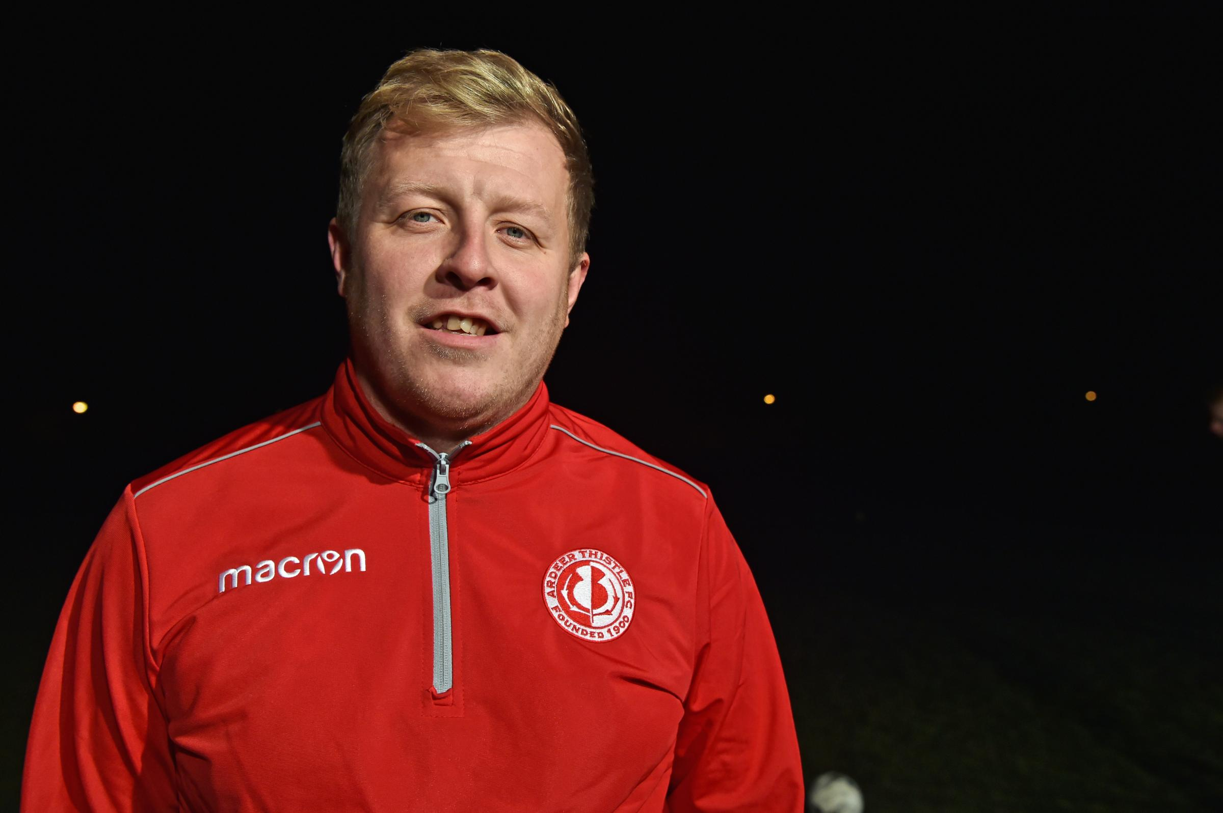 New Ardeer Thistle manager,Blair Gilmour..
