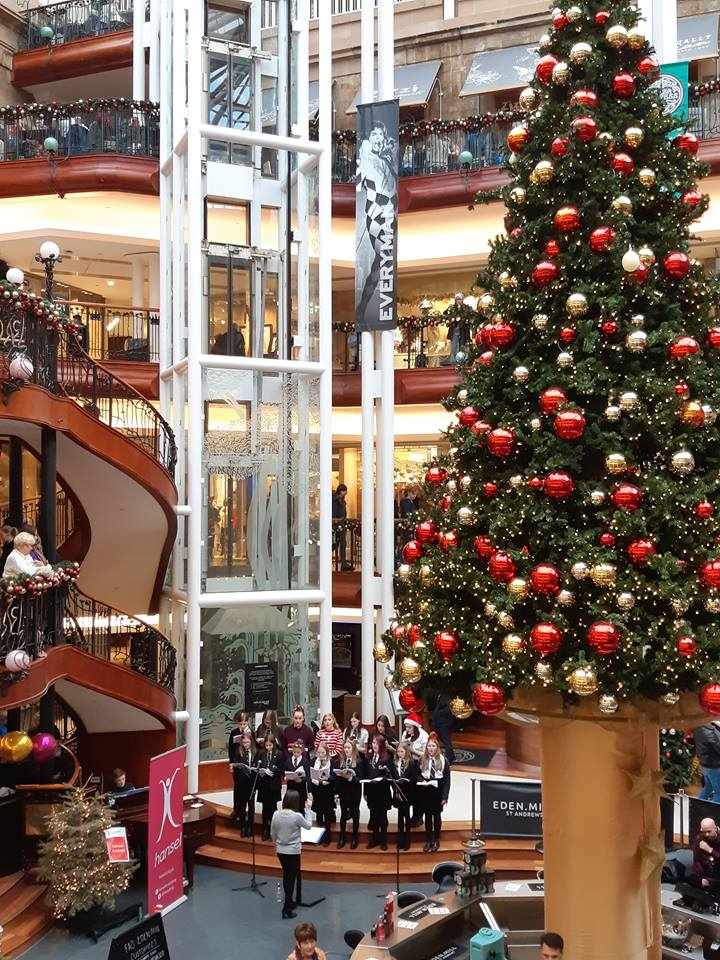 Valley school choirs perform for shoppers in Princes Square