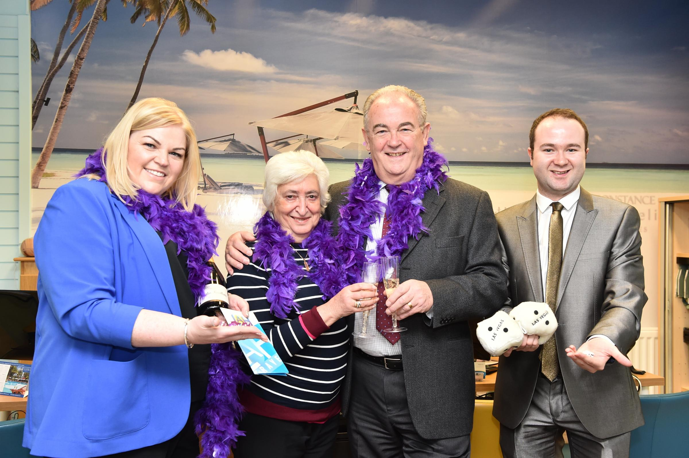 Lucky Ayrshire Hospice raffle winners pick up trip to Vegas