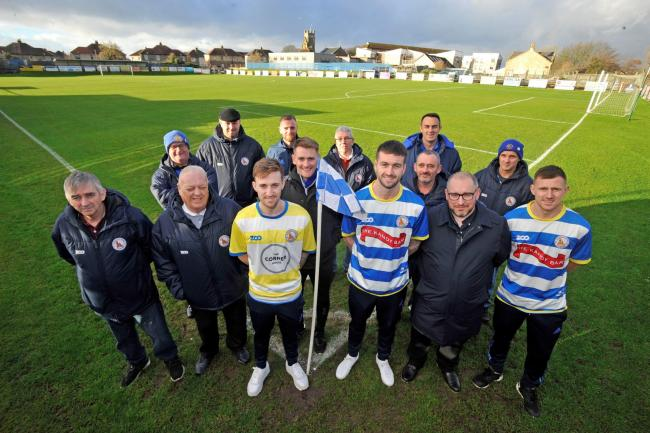 Kilwinning Rangers committee and players