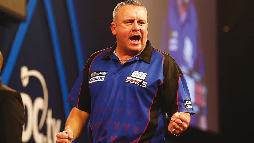 BIG TIME: Andy Boulton is back in the darts elite.