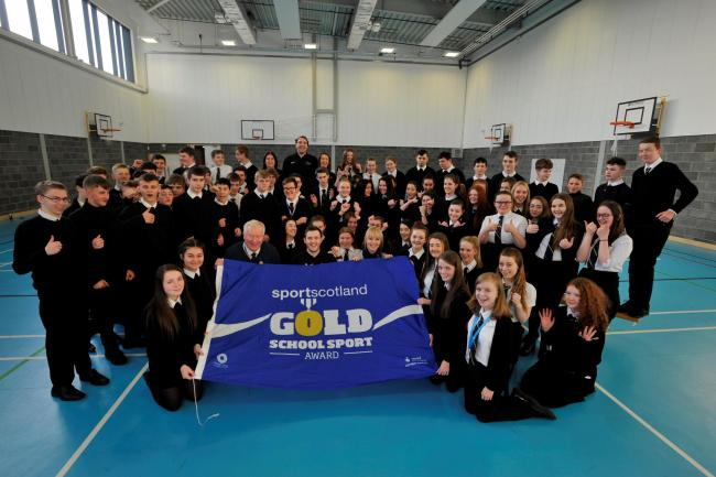 Garnock Community Campus gets Gold School Sport Award