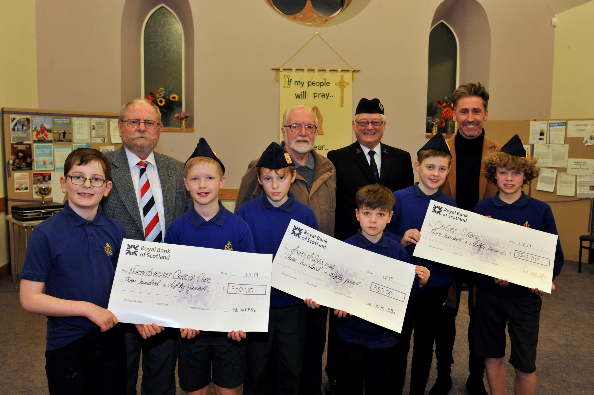 West Kilbride BBs help charities