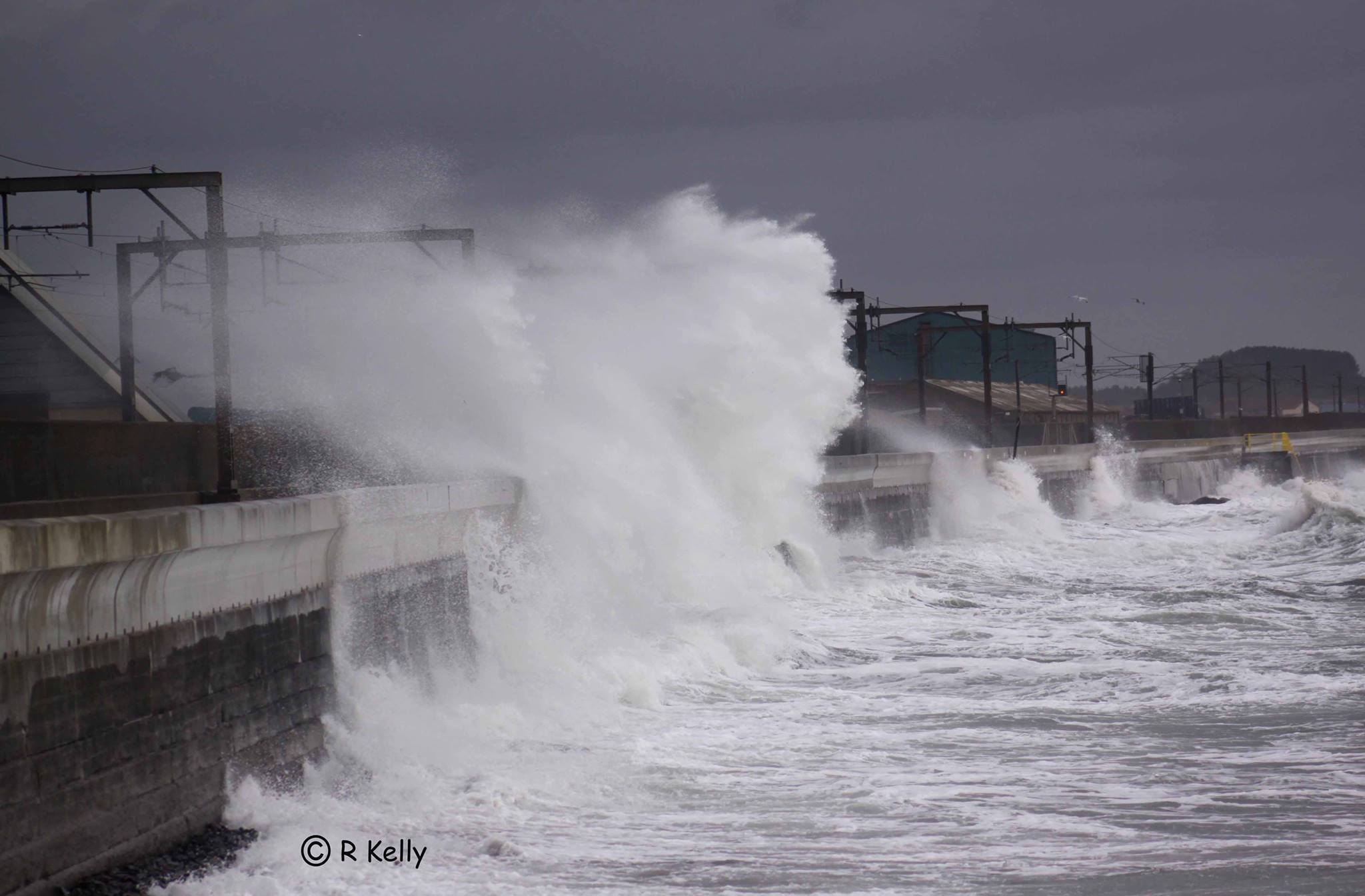 The Saltcoats sea wall. Picture: Robert Kelly