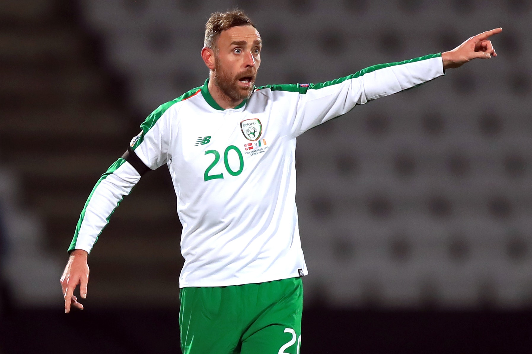 Republic of Ireland defender Richard Keogh could play against Gibraltar with a broken hand