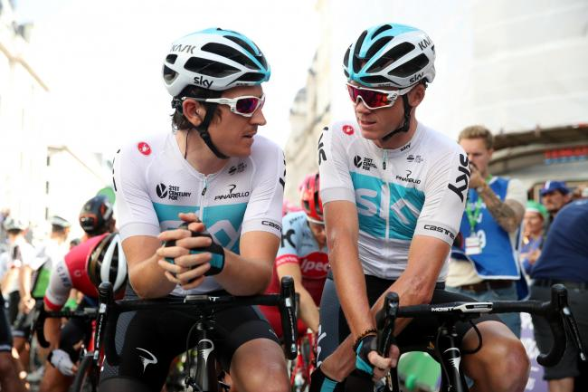 Team Sky's Geraint Thomas (left) and Chris Froome