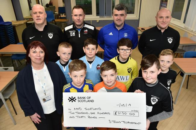 Young footballers raise thousands for MND in Kilwinning tournament