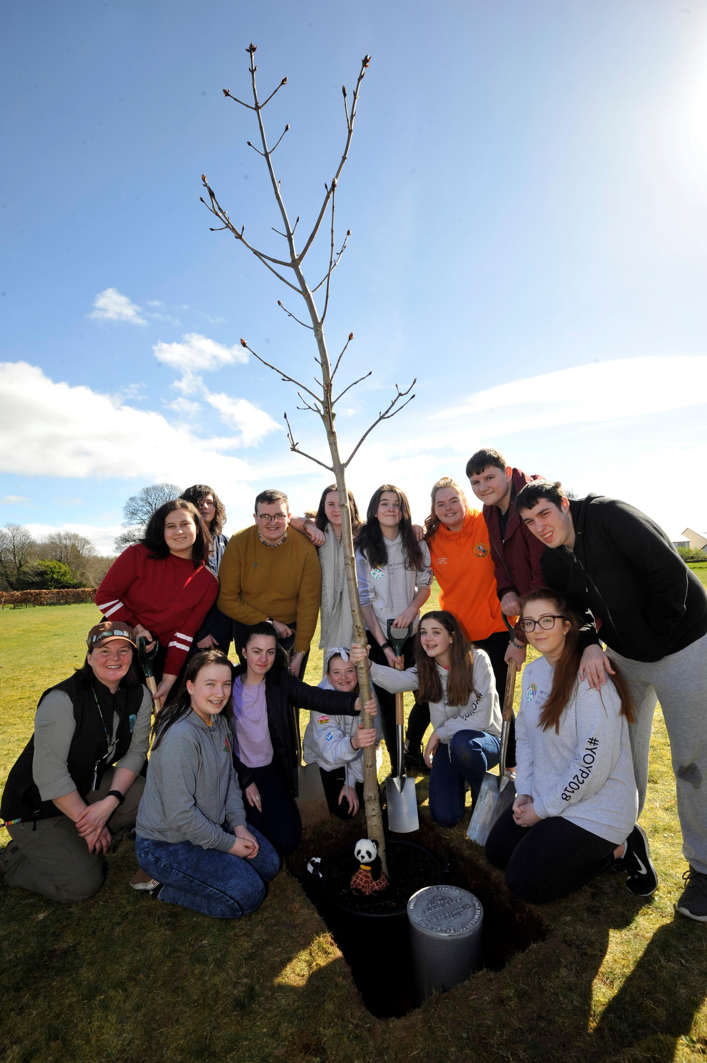 Year of the Young People ambassadors plant time capsule in Eglinton Park
