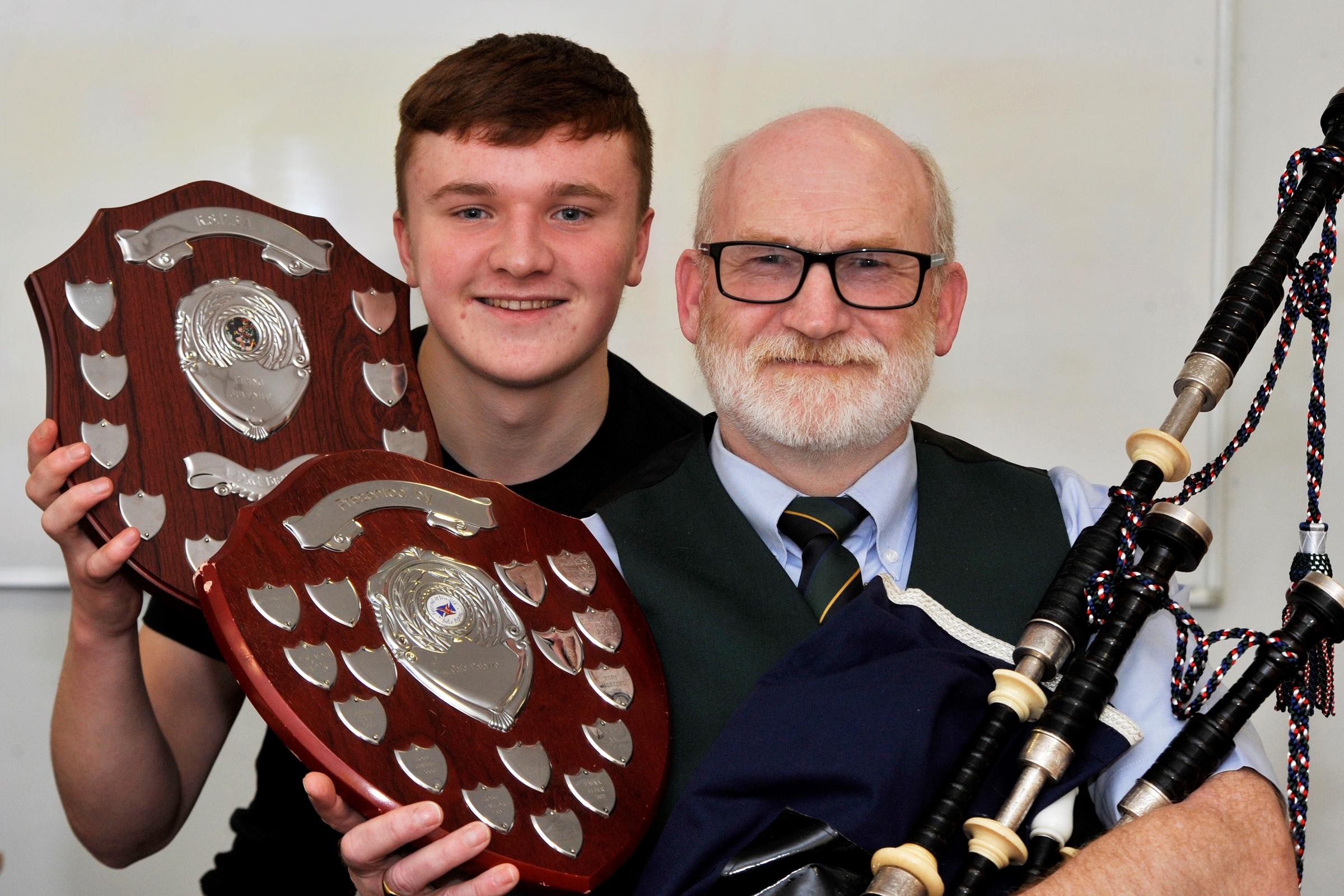 Two musicians from Caledonian Piping Club scoop top awards