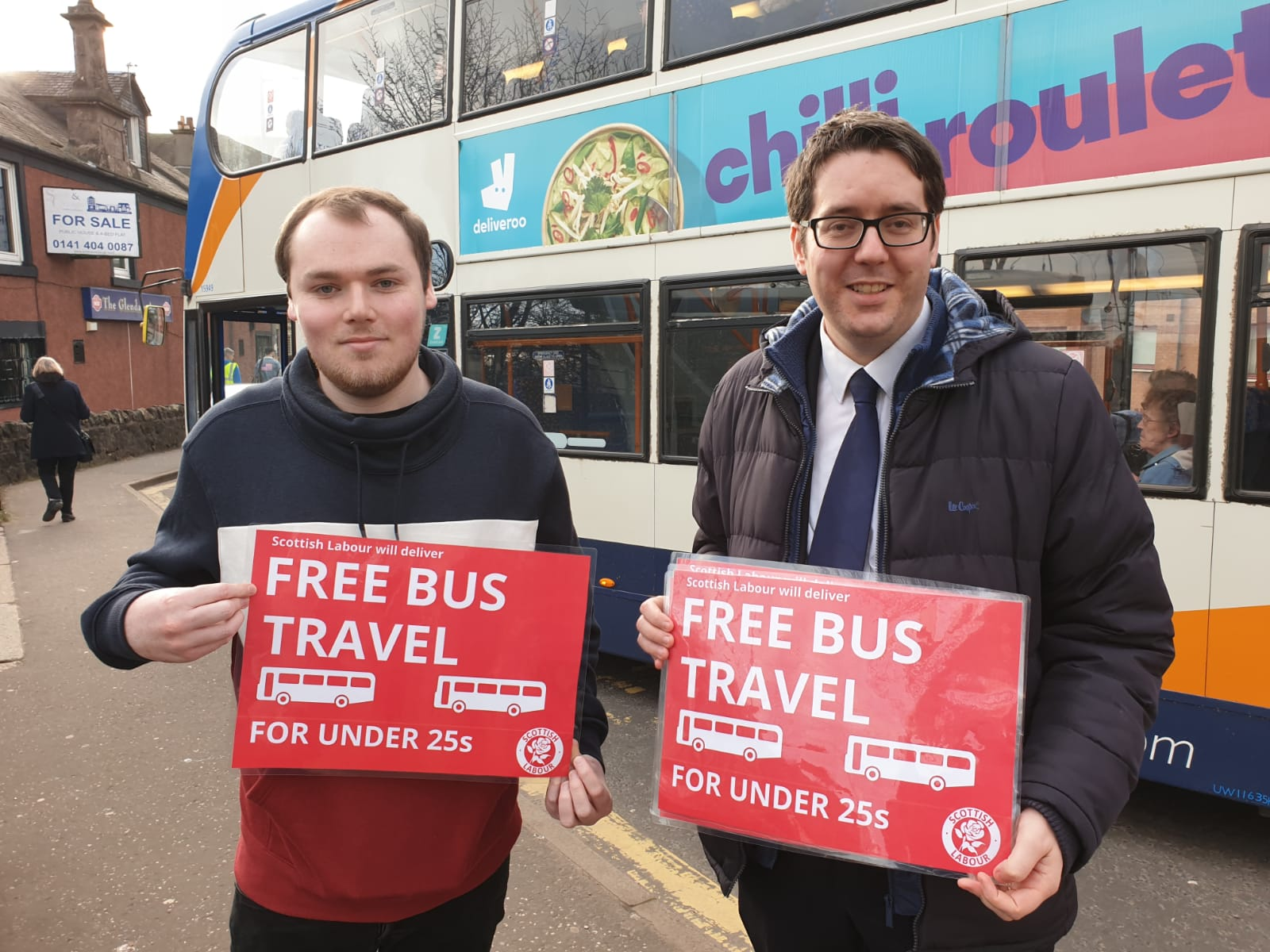 Neil Bibby MSP backs Scottish Labour's provision for free bus travel for under 25s