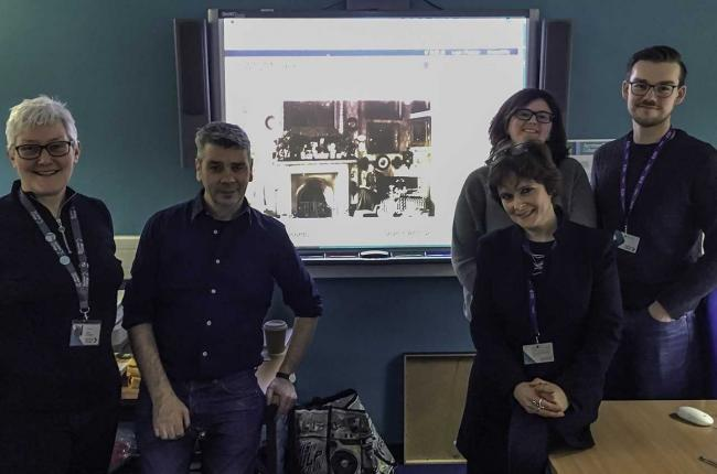 Students work with Historic Environment Scotland  on images of Kilwinning