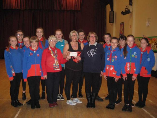 Beith Guides raise £500 for disabled riders in Kilwinning
