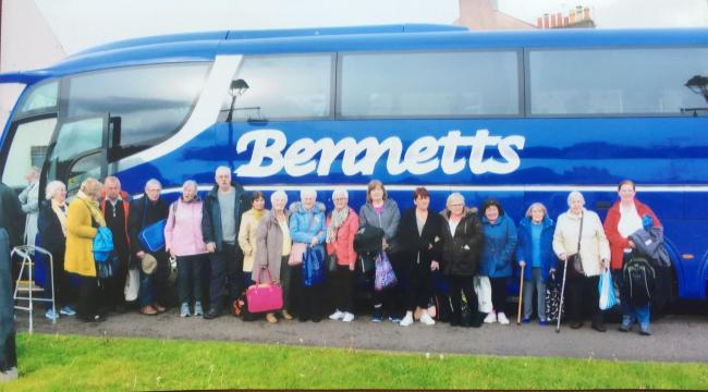 Stevenston's International, Historical, Cultural and Geographical Agency enjoy bus trip to Scone Palace