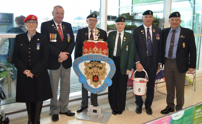 Local Royal British Legion raise over £600 for their branch at Ardrossan Asda