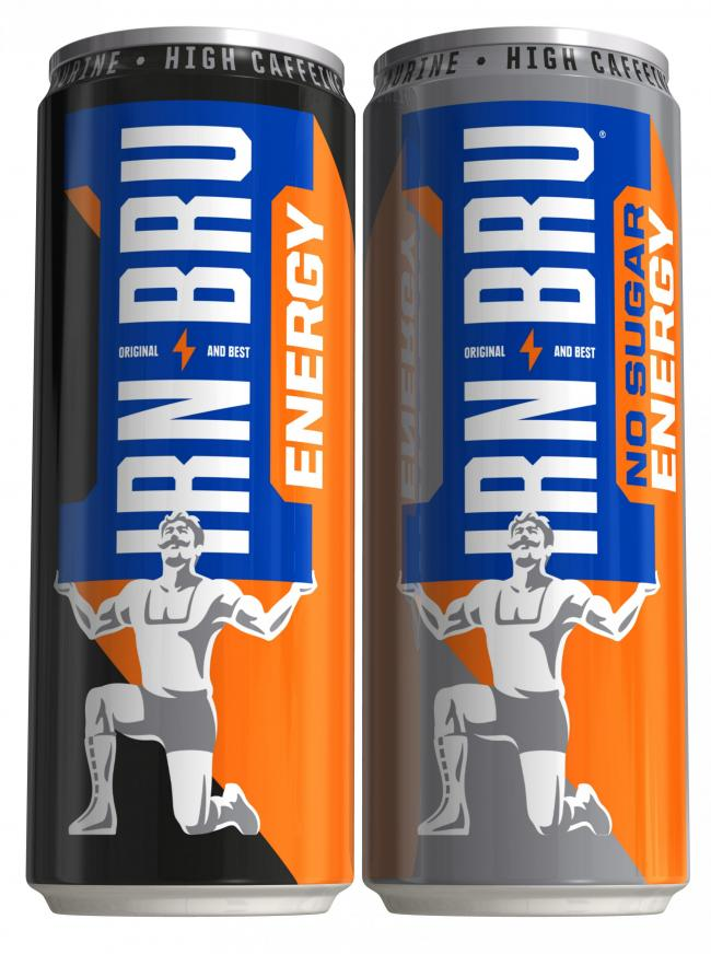 Undated handout photo issued by Stripe Communications of the launch of the new IRN-BRU Energy drink. AG Barr has announced it is to launch an energy drink version of Irn-Bru this summer. PRESS ASSOCIATION Photo. Issue date: Thursday May 16, 2019. Irn-Bru