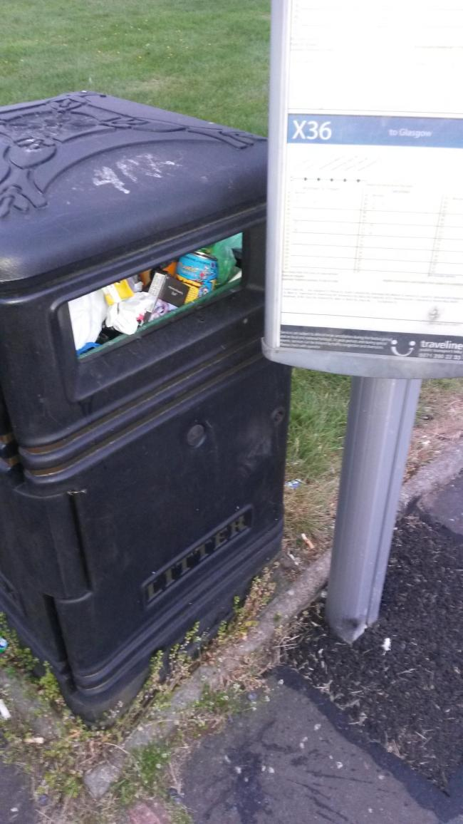 Bin and Bus Stop