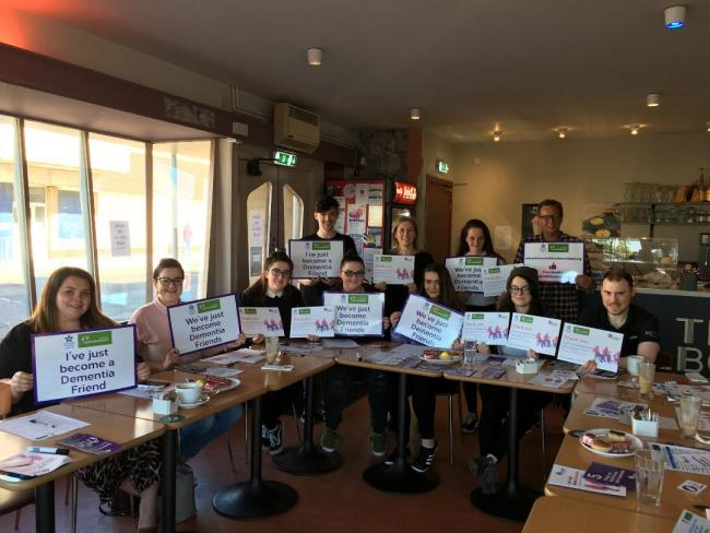 Melbourne Cafe in Saltcoats takes part in dementia friendly training for awareness week