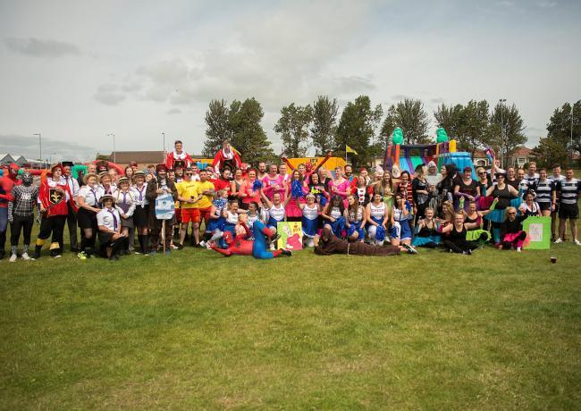 Inflatable fun in Ardrossan at It's a Knockout in support of Marion's Still Smiling