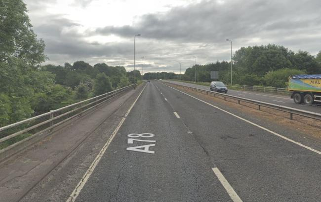 Road closures on Southbound section of A78 next week